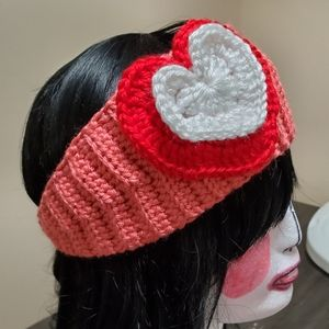 Heart headbands chochet